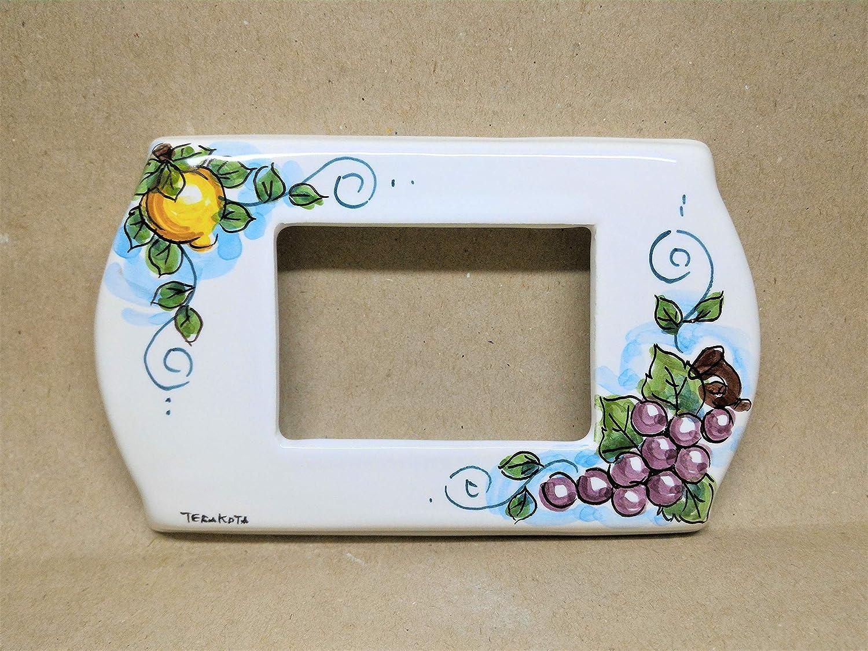 copri interruttore ceramica :'Limone-uva'