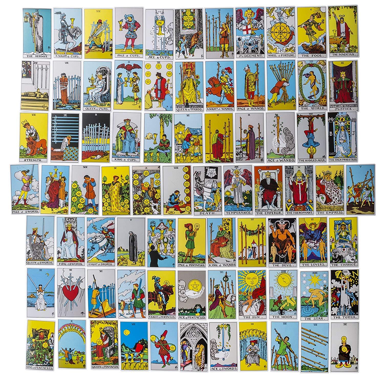 Amazon com: All Blue Rider Waite Tarot Card Power Deck