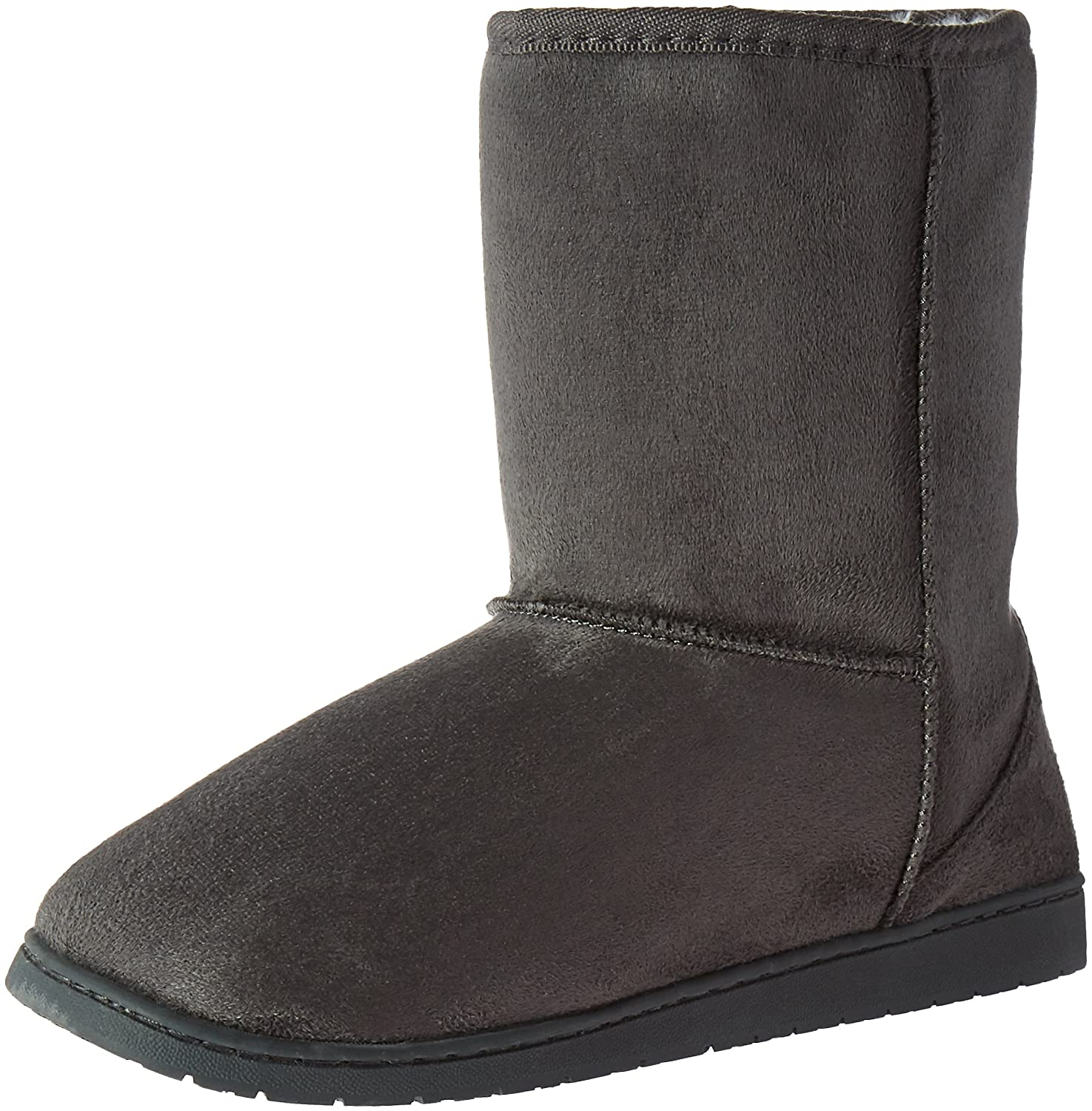 DAWGS Womens 9 Inch Faux Shearling Microfiber Vegan Winter Boots B009SQ196Q 5 B(M) US|Grey