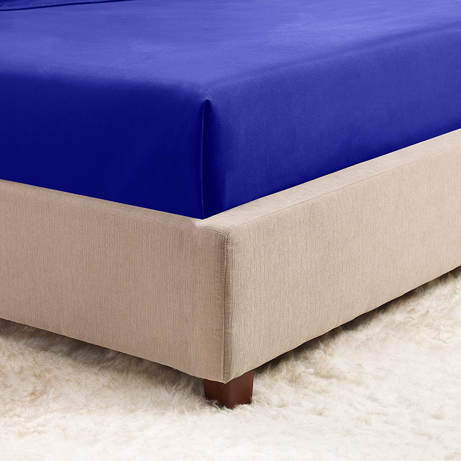Twin XL Hotel Luxury Silky Soft Double Brushed Microfiber Sheet Hypoallergenic Wrinkle Free Cooling Deep Pocket Bed Sheet Royal Blue Empyrean Bedding Deep Pocket Fitted Sheet