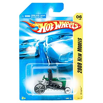 Hot Wheels 2008 New Models #6 Dragtor Green Collectible Collector Car #2008-6 2008: Toys & Games