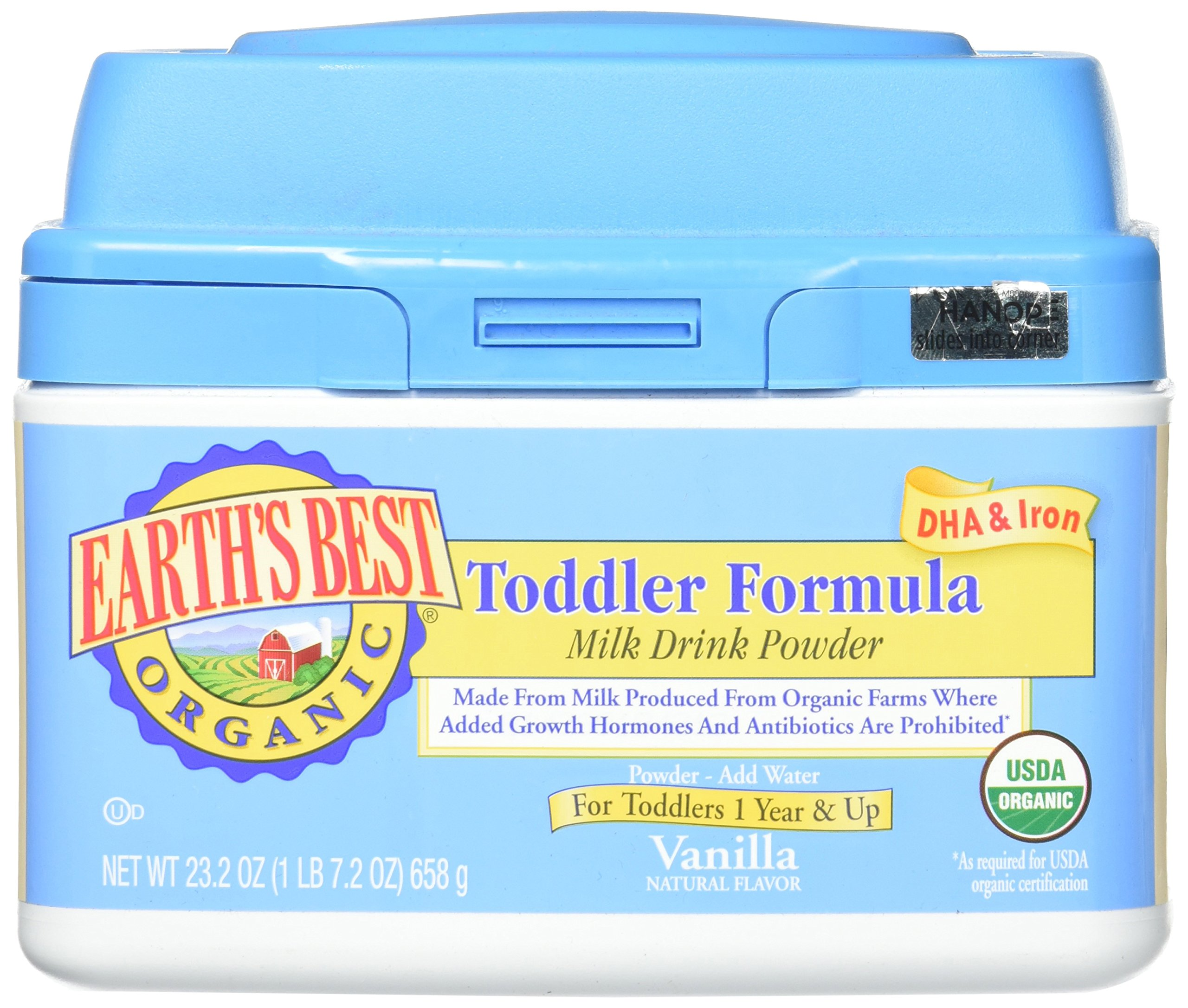 Earths Best Organic Vanilla Toddler Formula Powder, 23.2 Ounce -- 4 per case. by Earth's Best