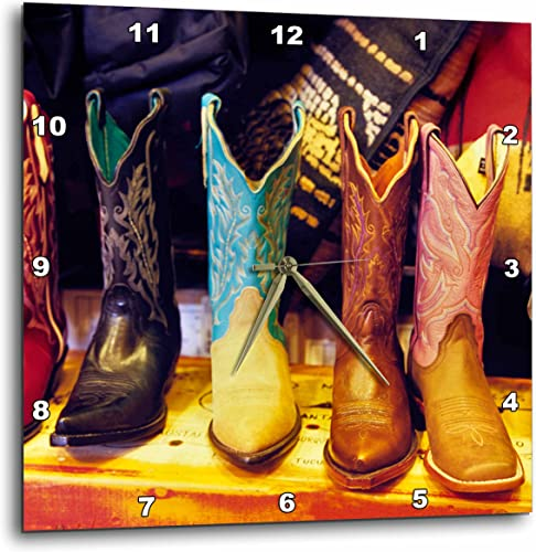 3dRose DPP_92617_3 Cowboy Boots, Old Town Albuquerque, NM – US32 JGI0001 – Jerry Ginsberg – Wall Clock, 15 by 15-inch