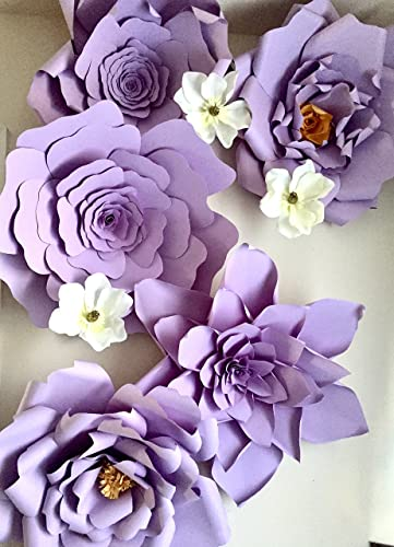 Amazon set of 3 giant 23 inch purple paper flower backdrop set of 3 giant 23 inch purple paper flower backdropwedding backdropgiant purple mightylinksfo