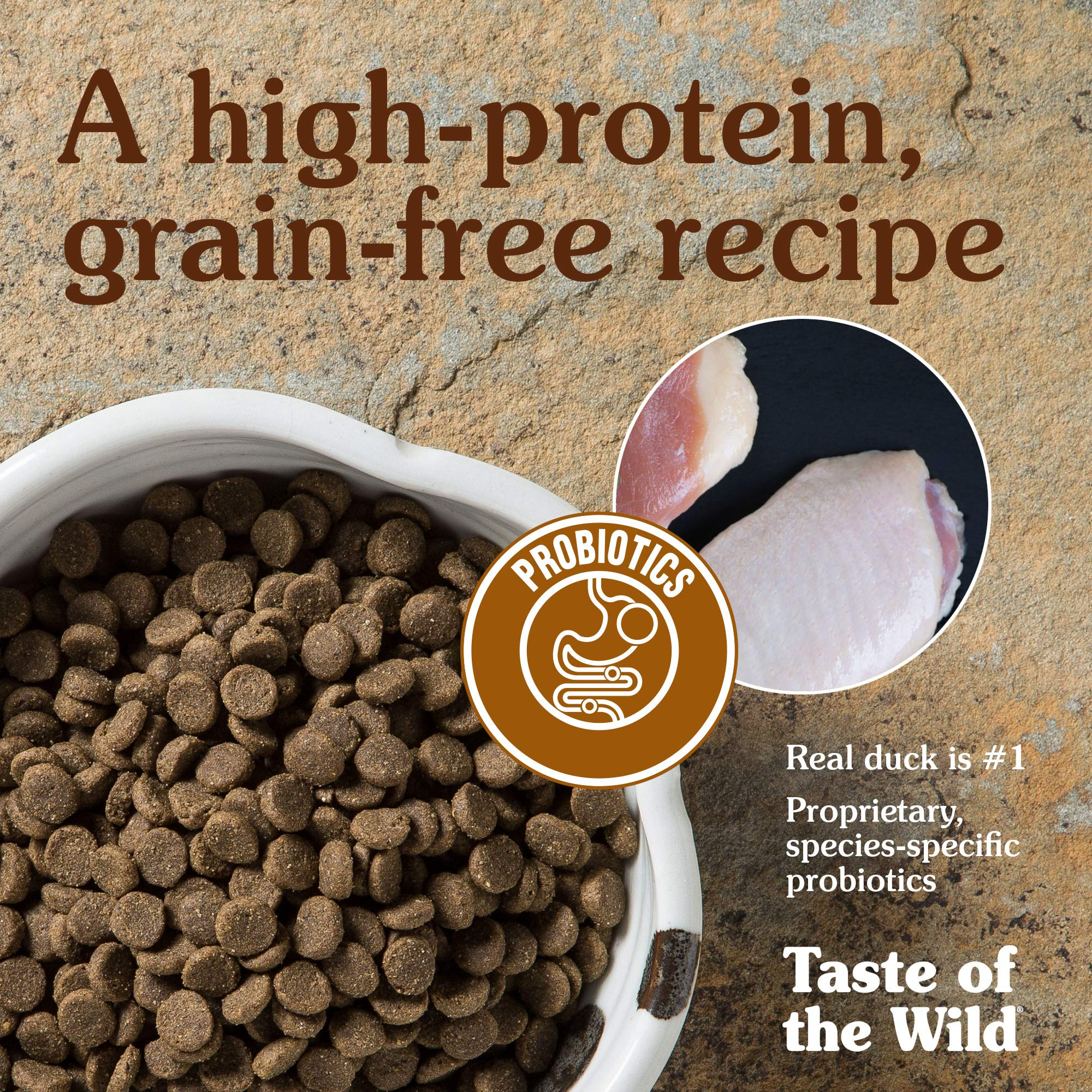 Taste of the Wild Grain Free High Protein Real Meat Recipe Wetlands Premium Dry Dog Food by Taste of the Wild (Image #6)