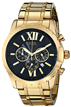 c03bbc2e095 Buy GUESS Men s U0193G1 Gold-Tone Chrongraph Watch with Date Function Online  at Low Prices in India - Amazon.in