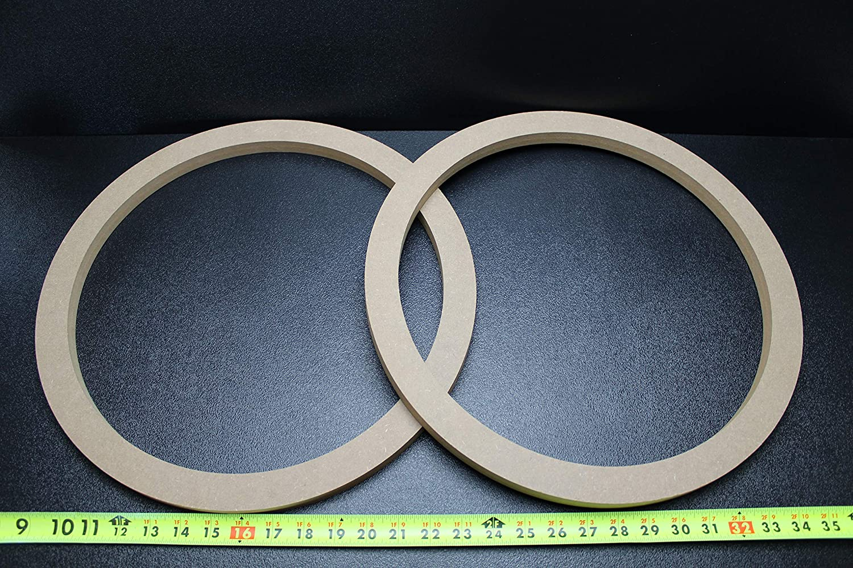 MDF スピーカーリングスペーサー 2インチ 木製 厚さ3/4インチのファイバーグラスボックスエンクロージャーポート B07Q997826