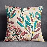 Bonamaison Decorative Cushion Cover - 50% Cotton 50% Polyester- 45x45cm - Designed and Manufactured in Turkey