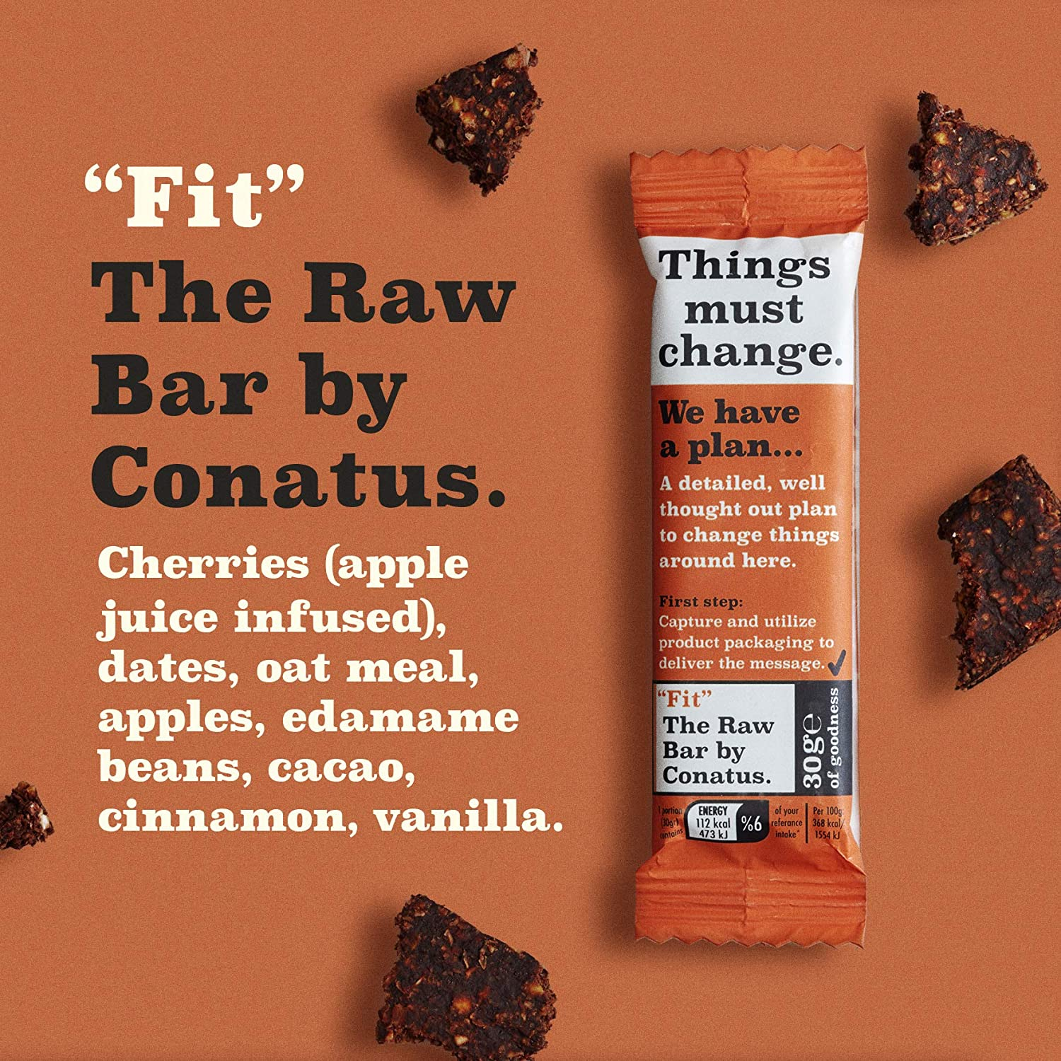 Fit Raw Bar by Conatus - 15 pack (15 x 30g) - Barritas ...