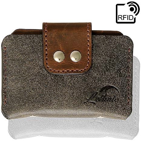 lethnic minimalist wallet business card holder modern slim small embossed italian genuine cowhide leather horizontal - Best Credit Card Holder
