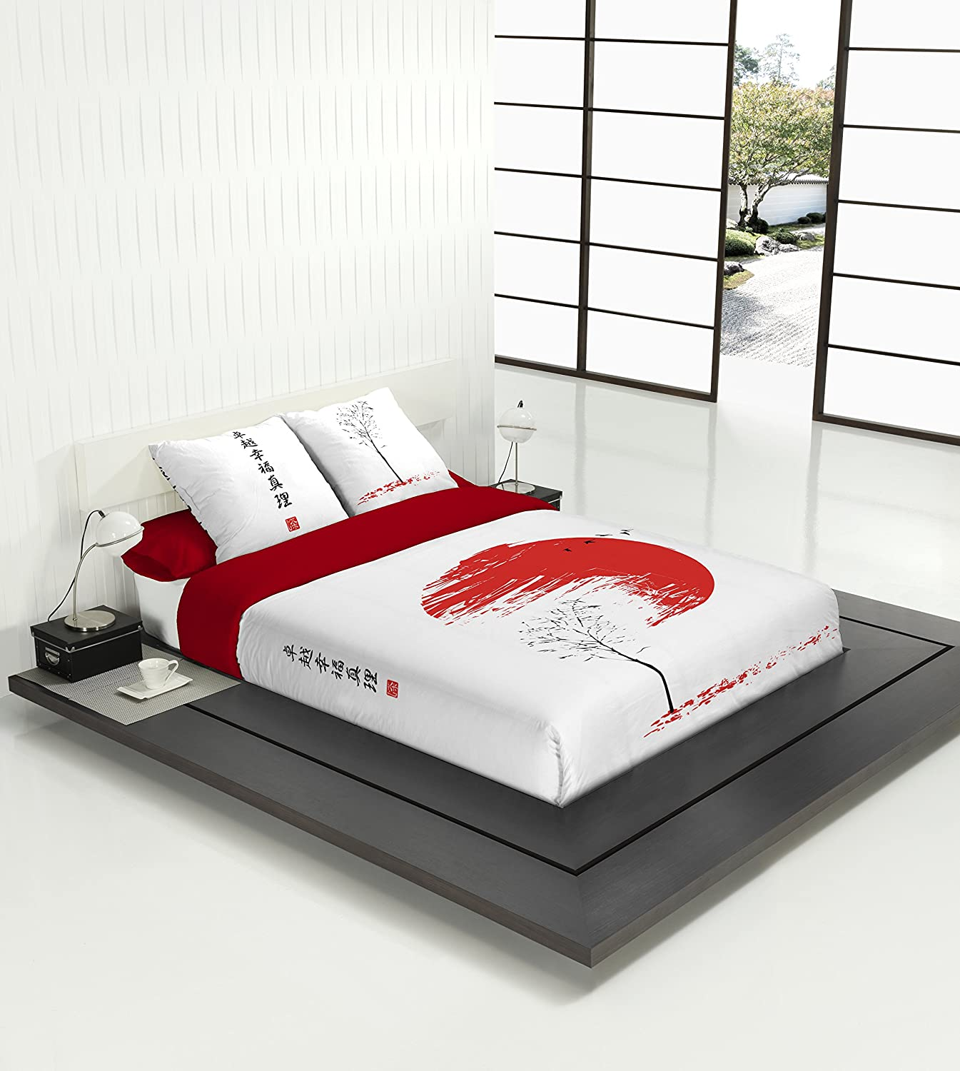Fundas nordicas 150 affordable relleno edredon nordico for Cama japonesa ikea