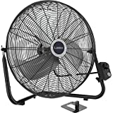 """Lasko 20"""" High Velocity Quick Mount, Easily Converts from a Floor Wall Fan, 7 x 22 x 22 inches, Black 2264QM"""