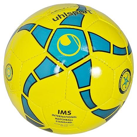 uhlsport Medusa Anteno - Balón de fútbol, Color Amarillo y Azul ...
