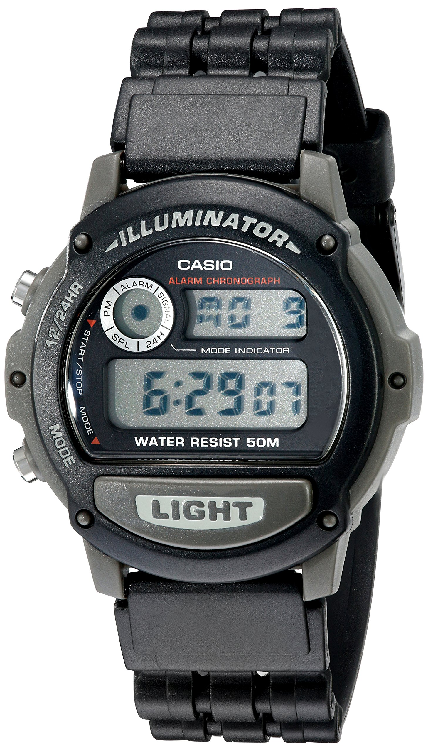 Casio W87H-1V Sports Wrist Watch (Black) by Casio