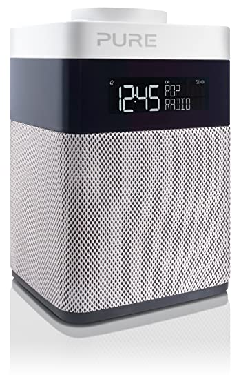 High Quality Pure POP Mini Radio (DAB/DAB+ Digital  Und UKW Radiowecker) Weiß