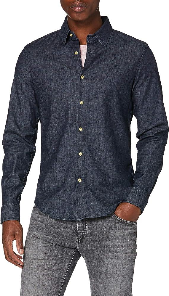 G-STAR RAW Core Denim Shirt L/s Camisa Vaquera, Azul (Rinsed 082), Small para Hombre: Amazon.es: Ropa y accesorios