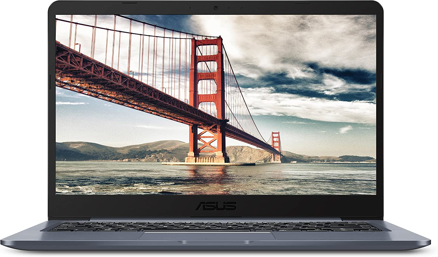 "ASUS Laptop L406 Thin and Light Laptop, 14"" HD Display, Intel Celeron N4000 Processor, 4GB RAM, 64GB eMMC Storage, Wi-Fi 5, Windows 10, Microsoft 365, Slate Gray, L406MA-WH02"