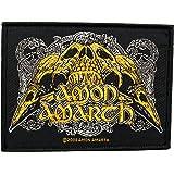 Amon Amarth Aufnäher - Raven Skull - Amon Amarth Patch - Gewebt & Lizenziert !!