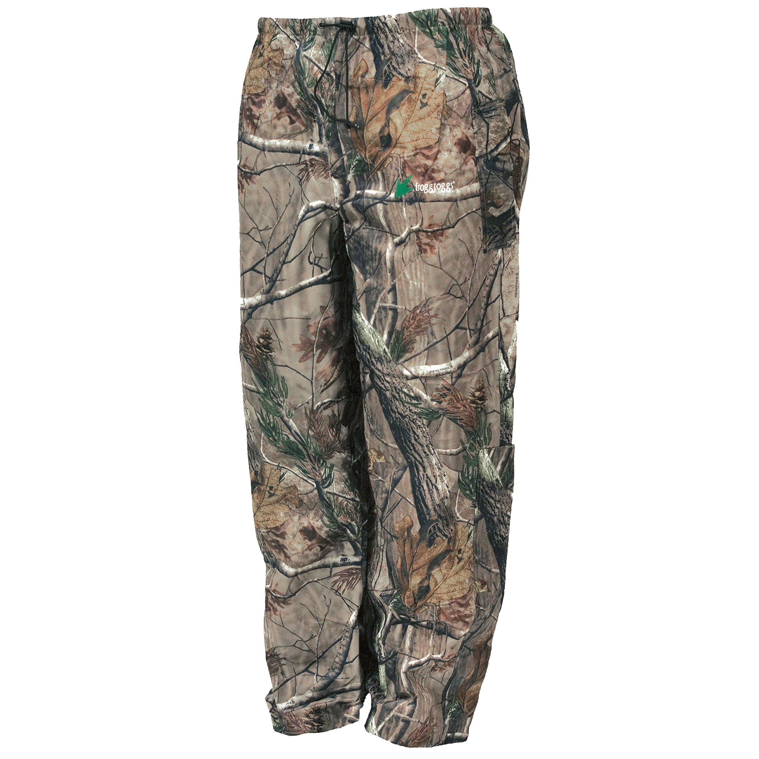 Frogg Toggs Pro Action Water-Resistant Rain Pant, Realtree Xtra, Size Small