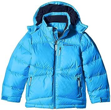 Columbia chico calentador chaqueta impermeable, Niño, color Azul - azul, tamaño large
