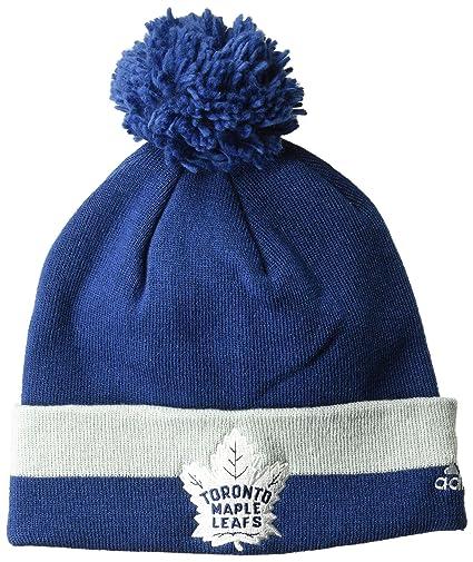 Buy adidas NHL Toronto Maple Leafs Cuffed Pom Knit Hat ce1e9cb0146