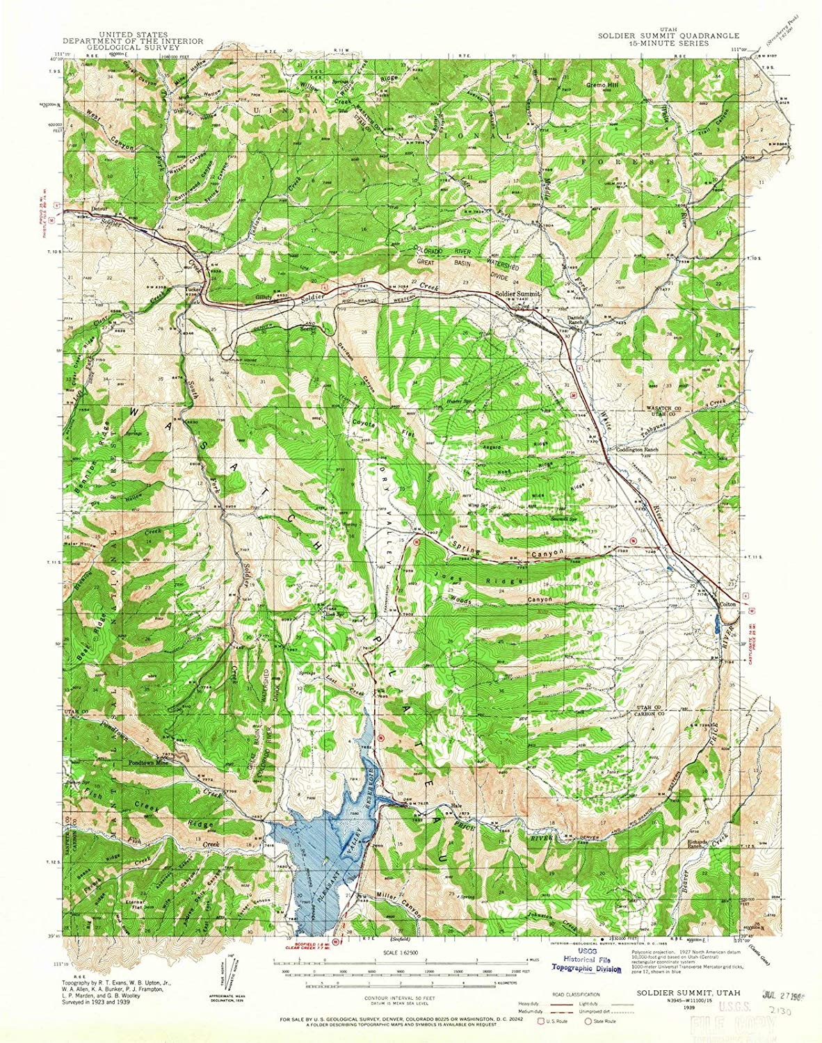 Amazon.com: Utah Maps | 1939 Soldier Summit, UT USGS ...