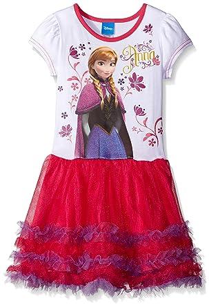 Disney Little Girls Frozen Anna Tutu Dress White