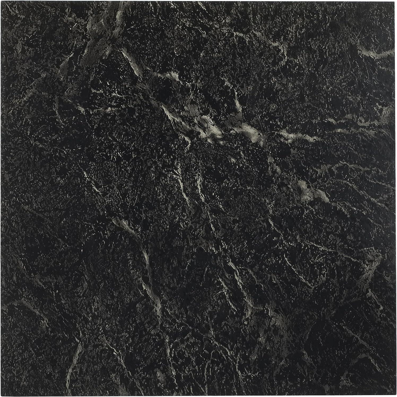 Achim Home Furnishings Nexus 12-Inch Vinyl Tile, Marble Black with White Vein, 20-Pack