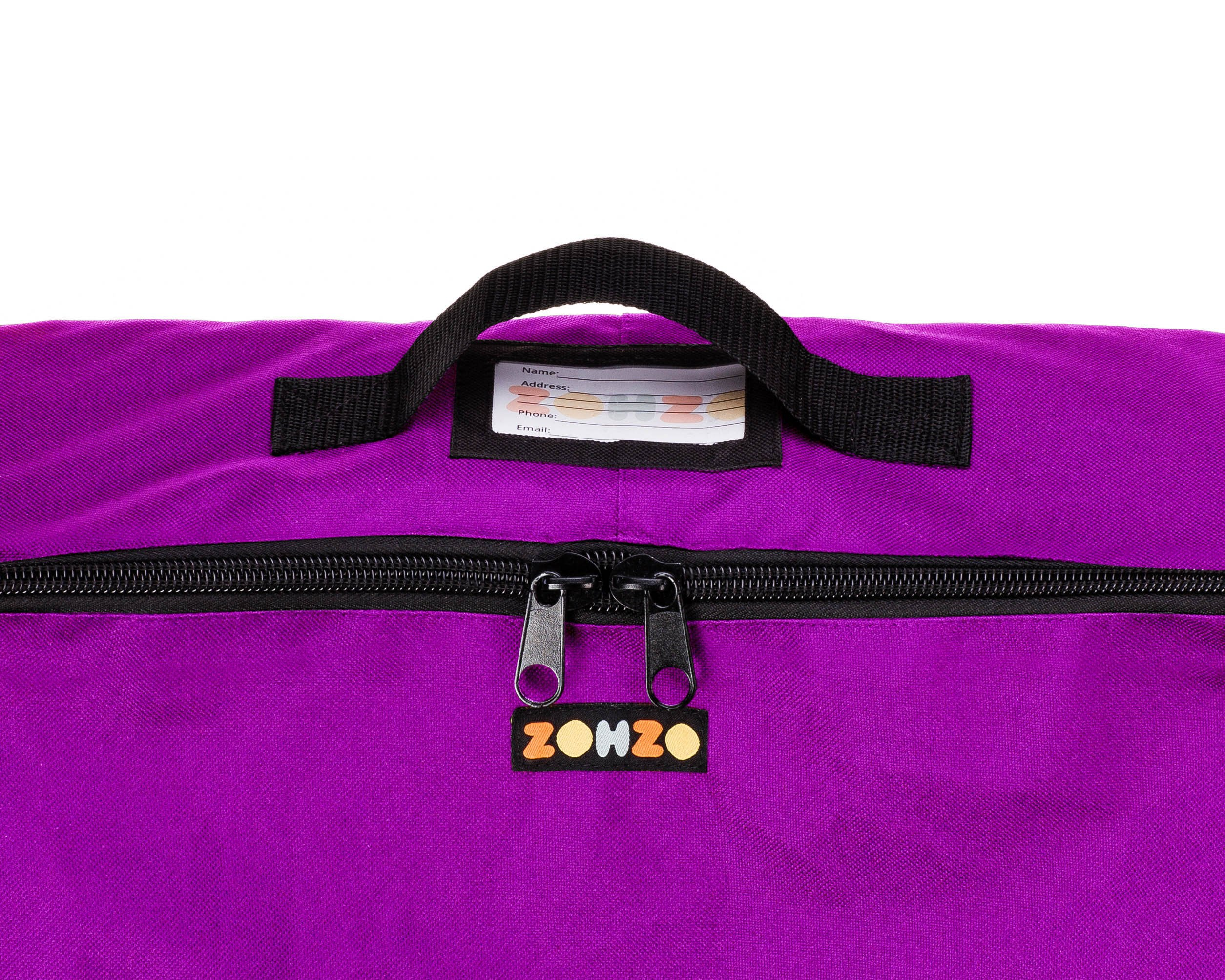 ZOHZO Car Seat Travel Bag — Adjustable, Padded Backpack for Car Seats — Car Seat Travel Tote — Save Money, Make Traveling Easier — Compatible with Most Name Brand Car Seats (Purple with Black Trim) by Zohzo (Image #5)