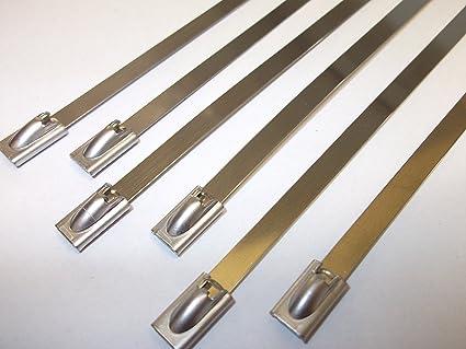 12 bridas de acero inoxidable de 520 mm x 4,6 mm para tubo ...