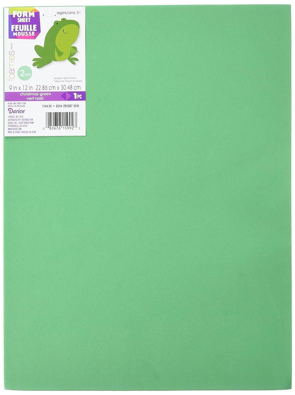 Pack of 10 Foam Sheet 9X12 2mm-Christmas Green