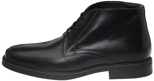 Geox Uomo Londra, Chaussures basses homme Noir C9999 Vente Très