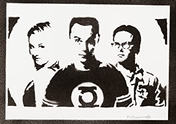 moreno-mata The Big Bang Theory Sheldon Penny E Leonard Handmade Street Art - Artwork - Poster