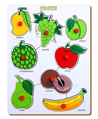 The Kiddy Depot Wooden – Knobbed Puzzle Fruits