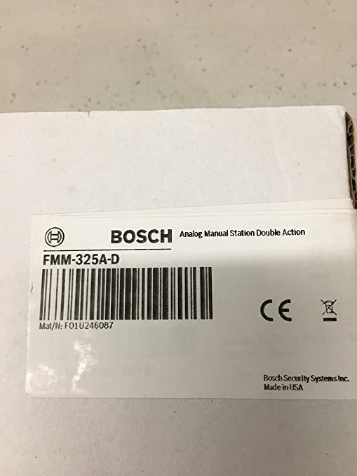 Bosch FMM-325A-D - Double Action Manual Pull Station ...