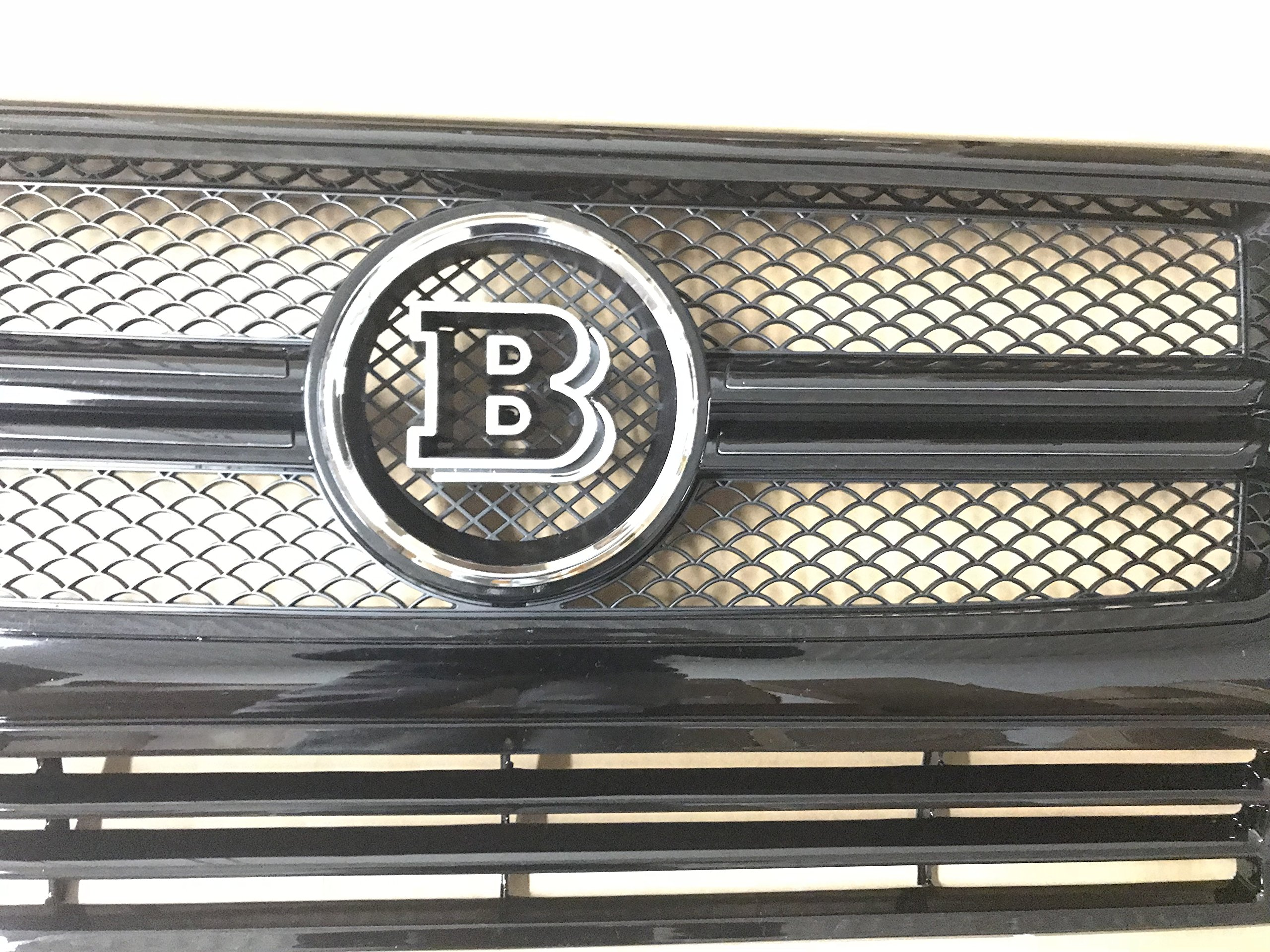 ALL BLACK G-Wagon W463 BRABUS-Style G65 W463 Conversion Grille Complete Fit For Mercedes-benz G500 G550 G63 Grille (Chrome B) by Conversion Grille Replacement (Image #3)