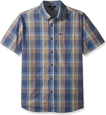 Volcom Woodson Camisa de manga corta con botones para hombre ...