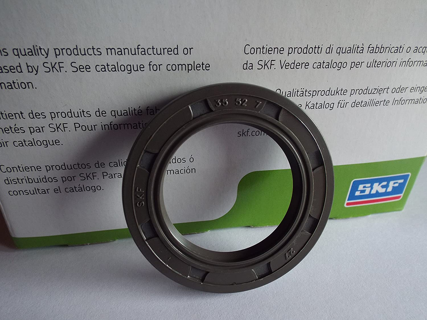 35x52x7mm SKF Oil Seal R23/TC Double Lip With Garter Spring Lancashire Seals