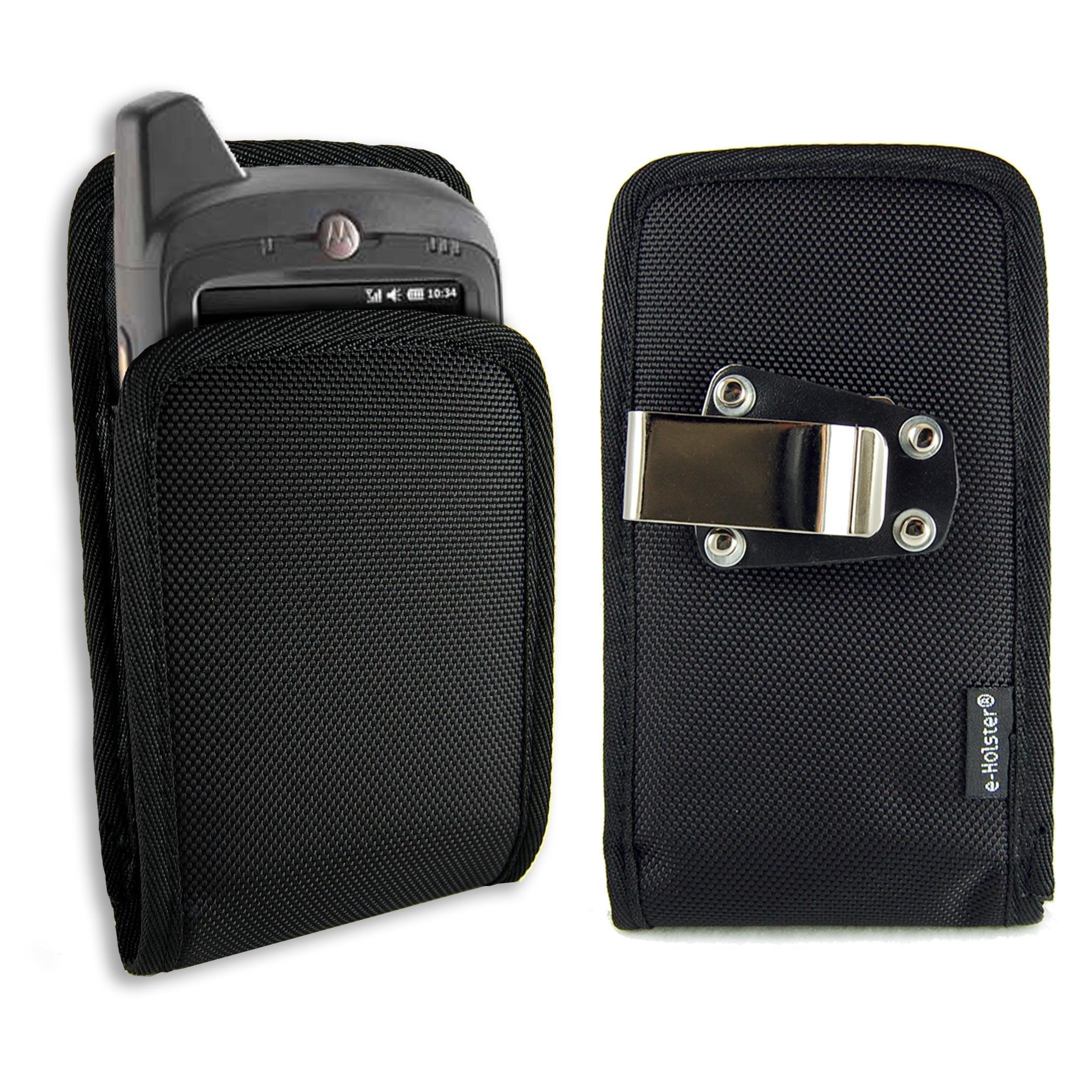 e-Holster Motorola MC65 Rugged Ballistic Nylon Case Holster with Rotating Belt Clip fits MC40, MC45, MC55, MC67, MC70 & MC75