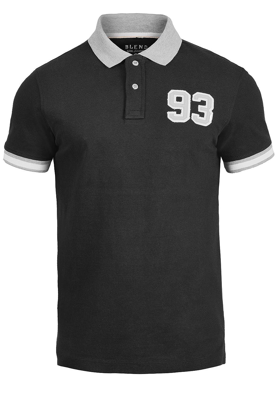TALLA XL. Blend Gregor Camiseta Polo De Manga Corta para Hombre con Cuello De Polo De 100% algodón