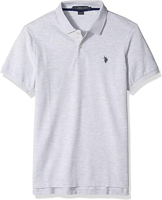 U.S. POLO ASSN. Camisa de Twisted-Yarn Polo para Hombre - Gris ...