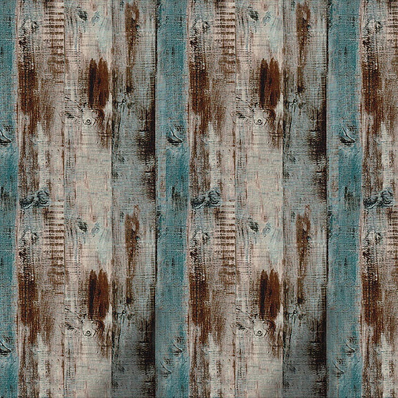 Reclaimed Wood Distressed Wood Panel Wood Grain Self-Adhesive Peel-Stick Wallpaper (17.71x 236 inches)