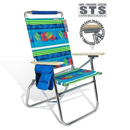 Amazon.com : High Seat Beach Folding Chair Lightweight Alumium Frame ...