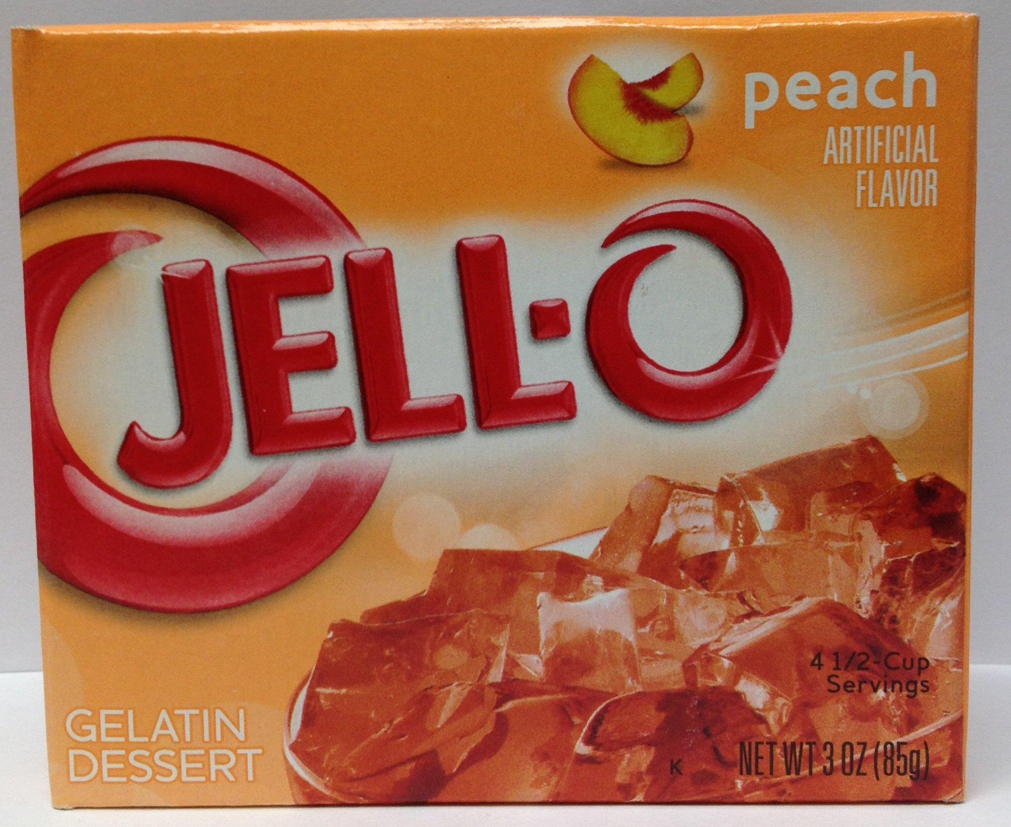 Jello Peach 3oz 6 Pack