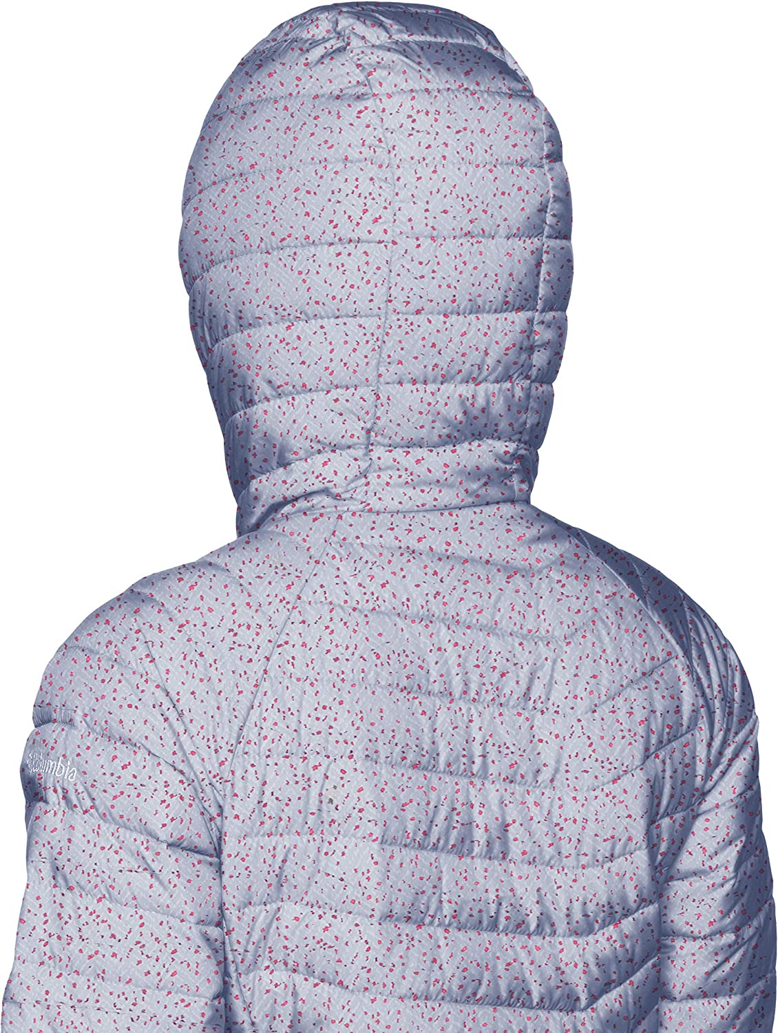 Columbia Damen Insulated Jacket Insulated Jacket Powder Lite Hooded Violett (Astral Tweed Print)