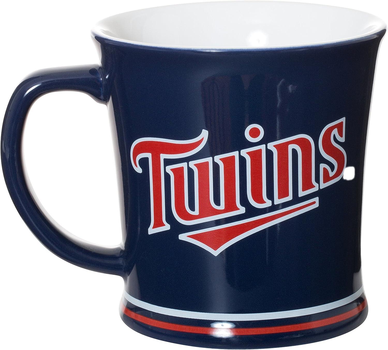 Ceramic Relief Mug Minnesota Twins Navy Blue 15oz