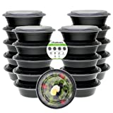 Amazon Price History for:Freshware Meal Prep Containers [21 Pack] Bowls with Lids, Food Storage Bento Box | BPA Free | Stackable | Lunch Boxes, Microwave/Dishwasher/Freezer Safe, Portion Control, 21 day fix (28 oz)