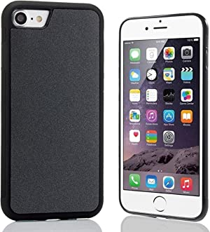 imluckies Anti Gravity Phone Case for iPhone 8/7/ 6/ 6s/ SE 2020,Goat Case Magical Nano Technology can Stick to Glass, Whiteboards, Metal and Smooth Surfaces with Dust Proof Film [Black]