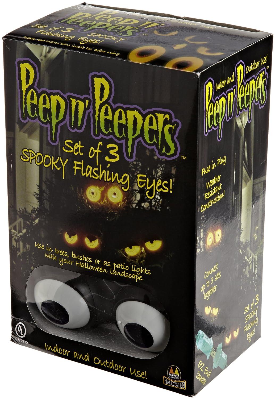 amazoncom peep n peepers flashing eyes halloween lights outdoor lighting kitchen dining