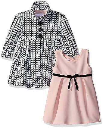Amazon Com Bonnie Baby Baby Girls Dress And Coat Set Clothing